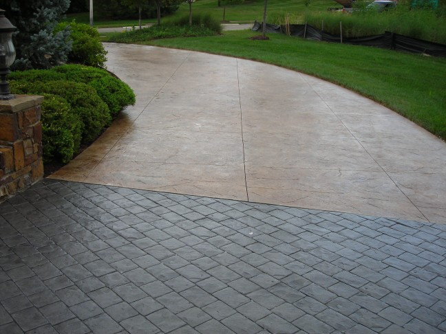 Concrete installation repair topcoat sealers for Pouring your own concrete driveway